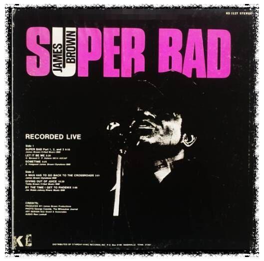 James Brown Super Bad King Label,Pat No.KS 1127 US