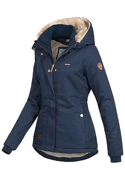 Jacke damen winter blau