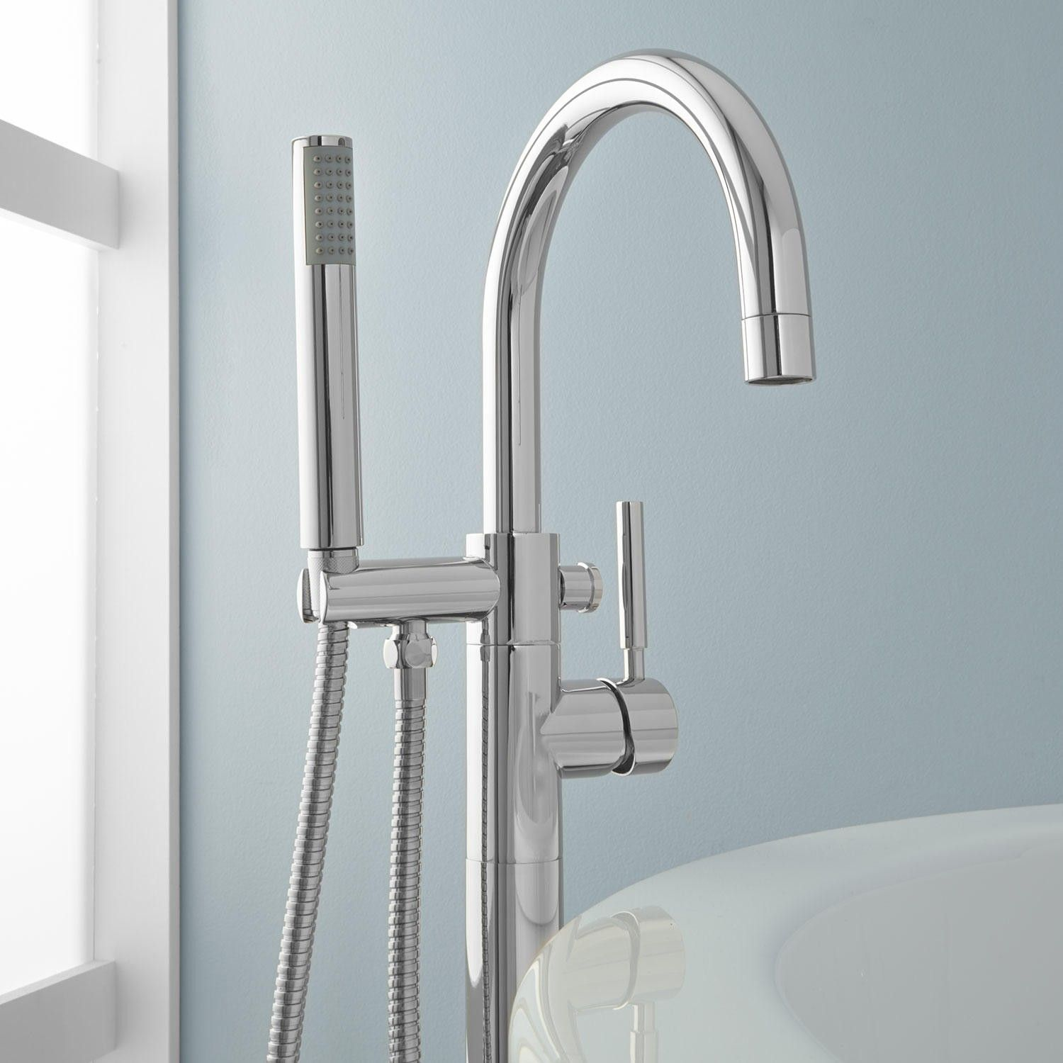 Simoni Freestanding Tub Faucet and Hand Shower Faucets Showers