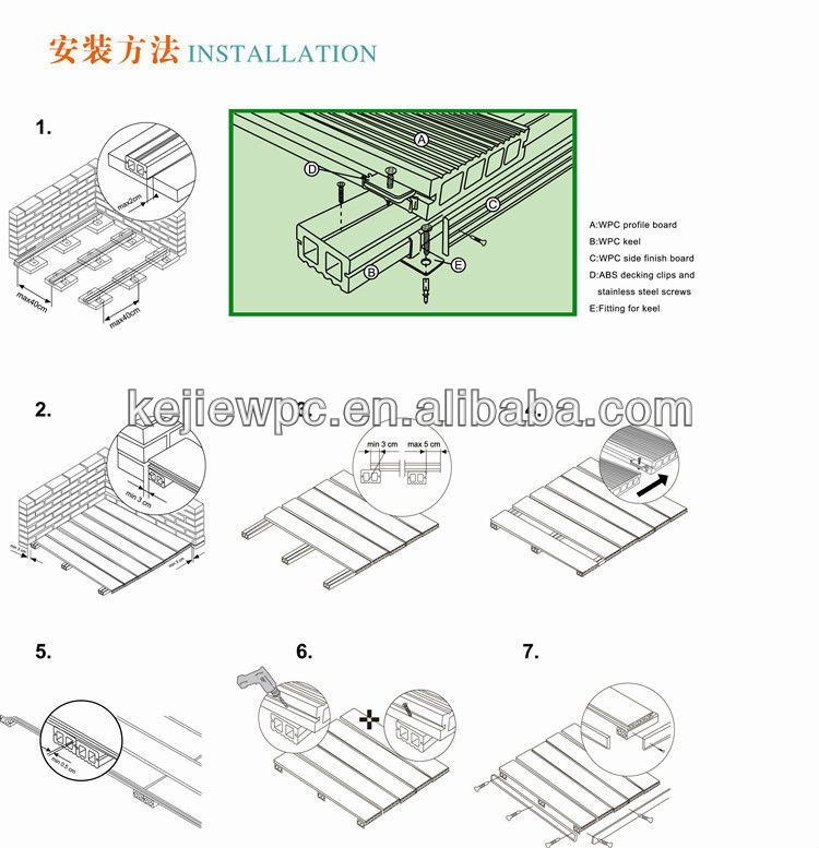 Free Sample Solid Wpc Decking Flooring Wood Plastic Composite Floor Xfd001