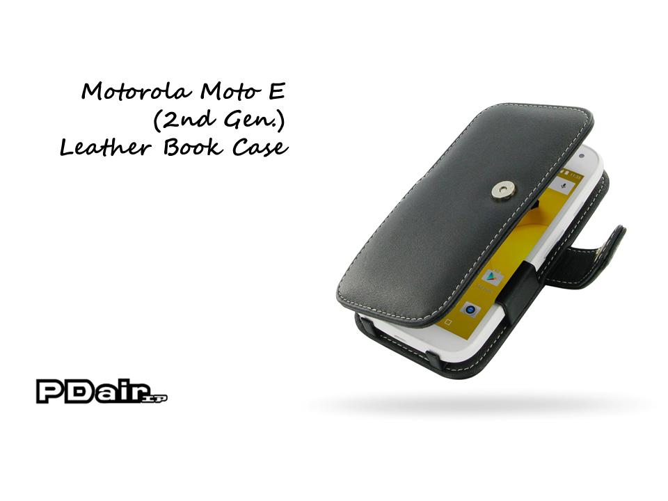 PDair Motorola Moto E (2nd Gen.) Leather Book Case