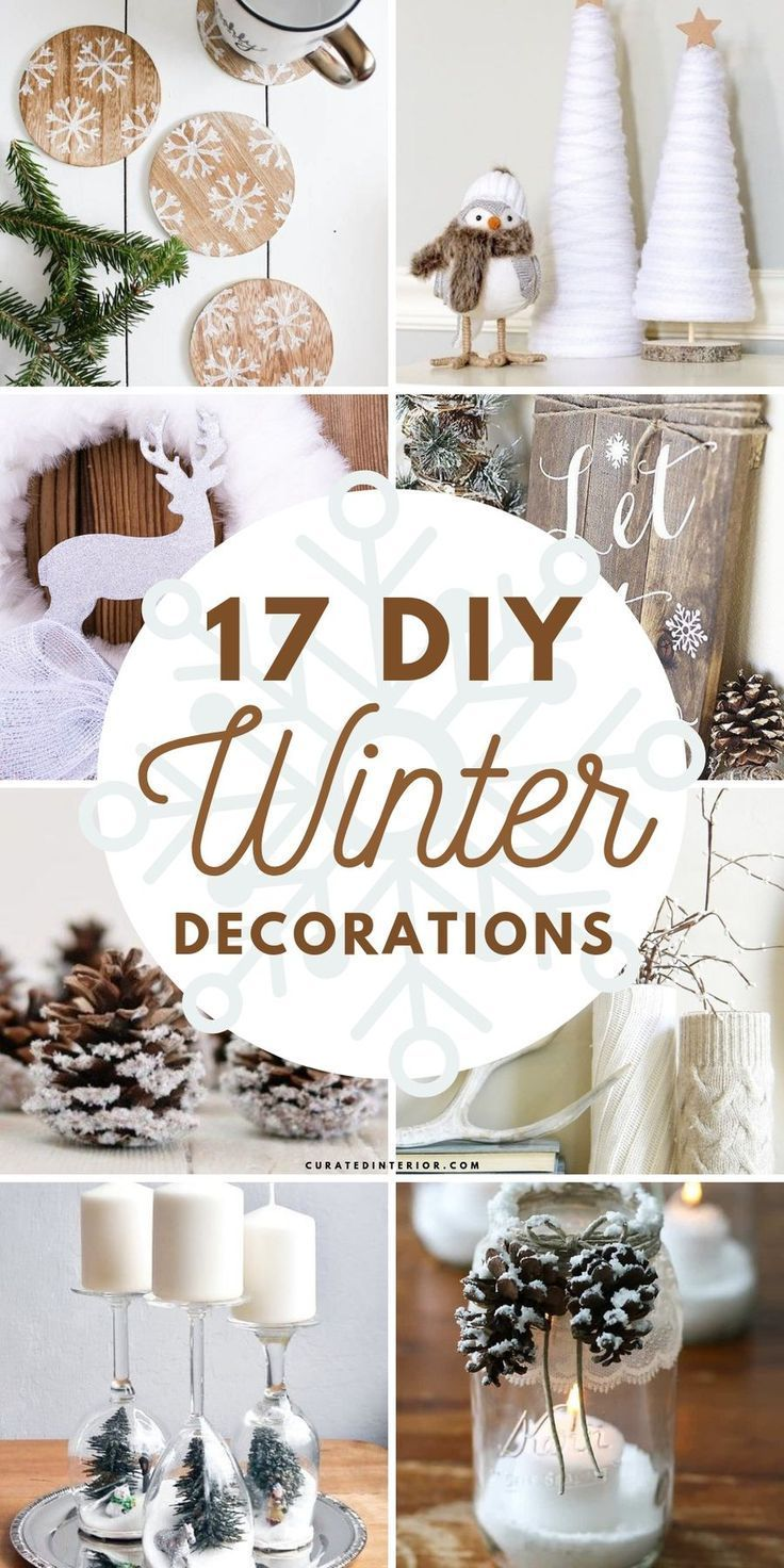 17 DIY Winter Decorations for After-Christmas Decorating #winterdecor