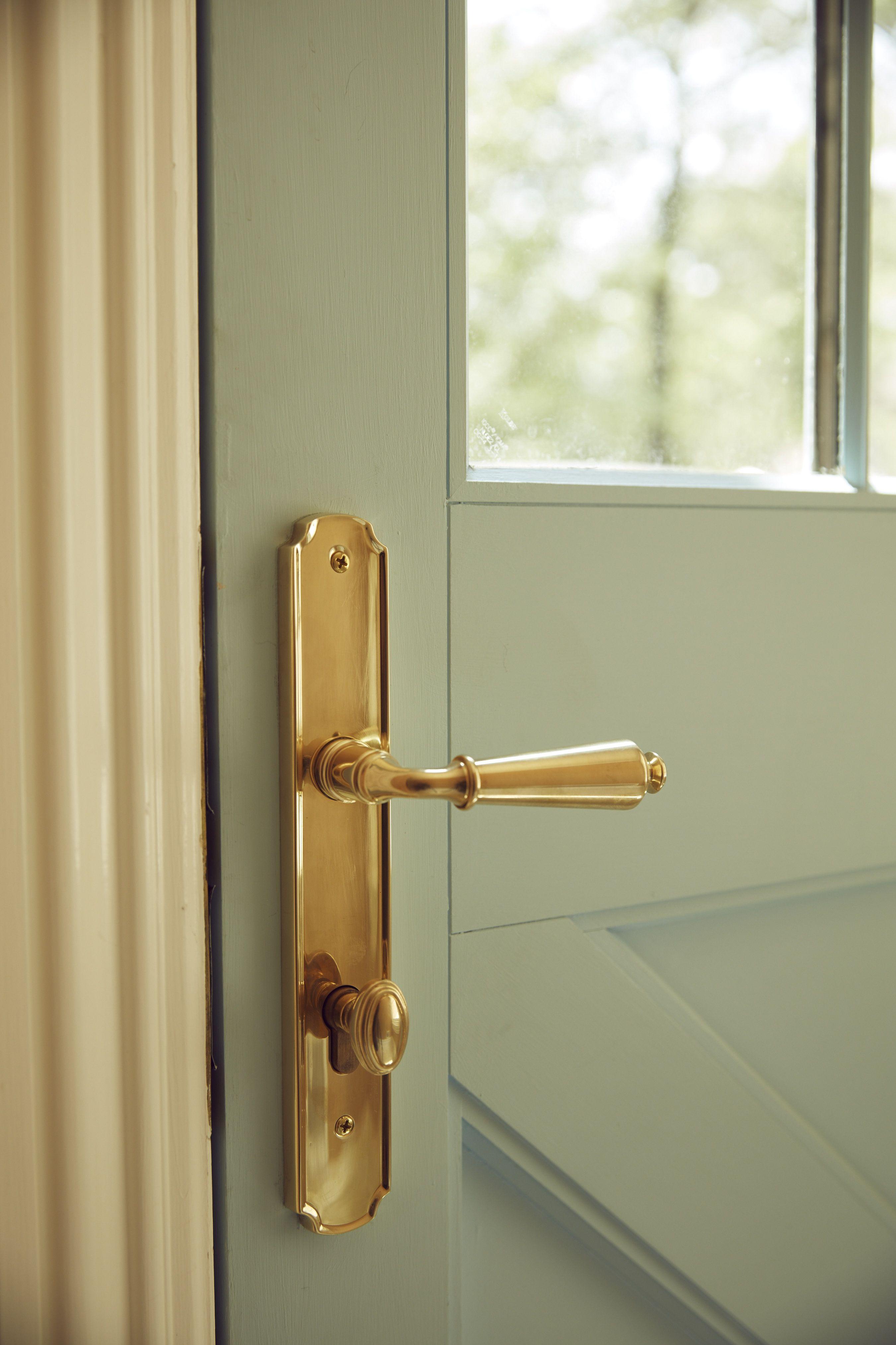 Home Decor. Home Restoration Brass Door Handle Brass Door Pull Vintage Solid Brass Door Handle