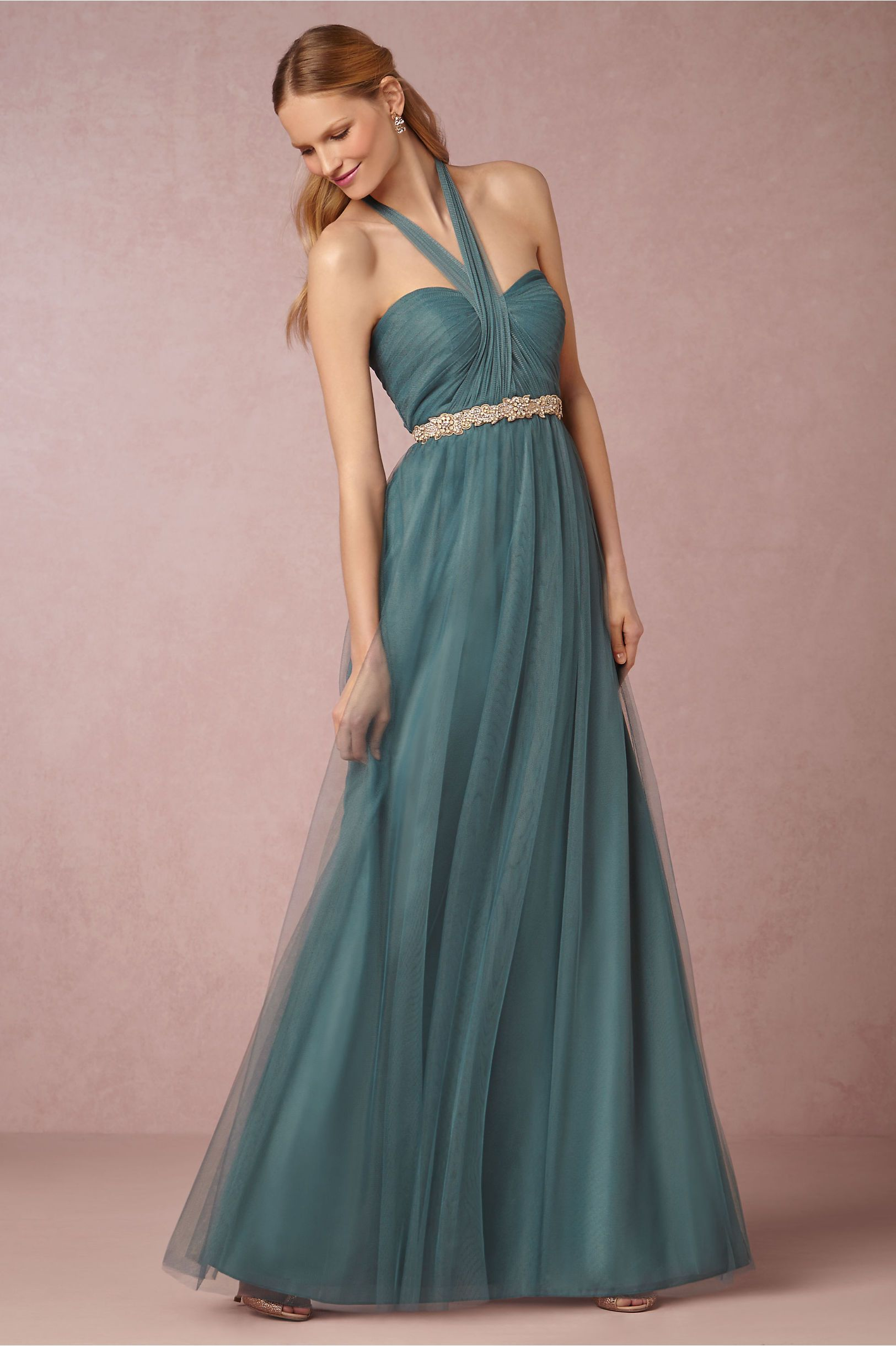 Annabelle Bridesmaids Dress in vintage teal from @BHLDN ...
