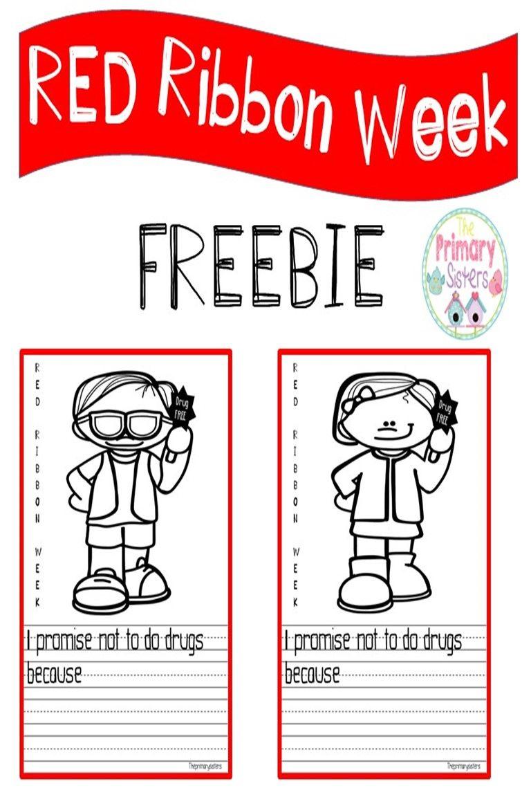 I Promise To Be Drug Free Freebie Enjoy This Red Ribbon Week Freebie Writing Red Ribbon Week Red Ribbon Free Writing Prompts [ 1152 x 768 Pixel ]