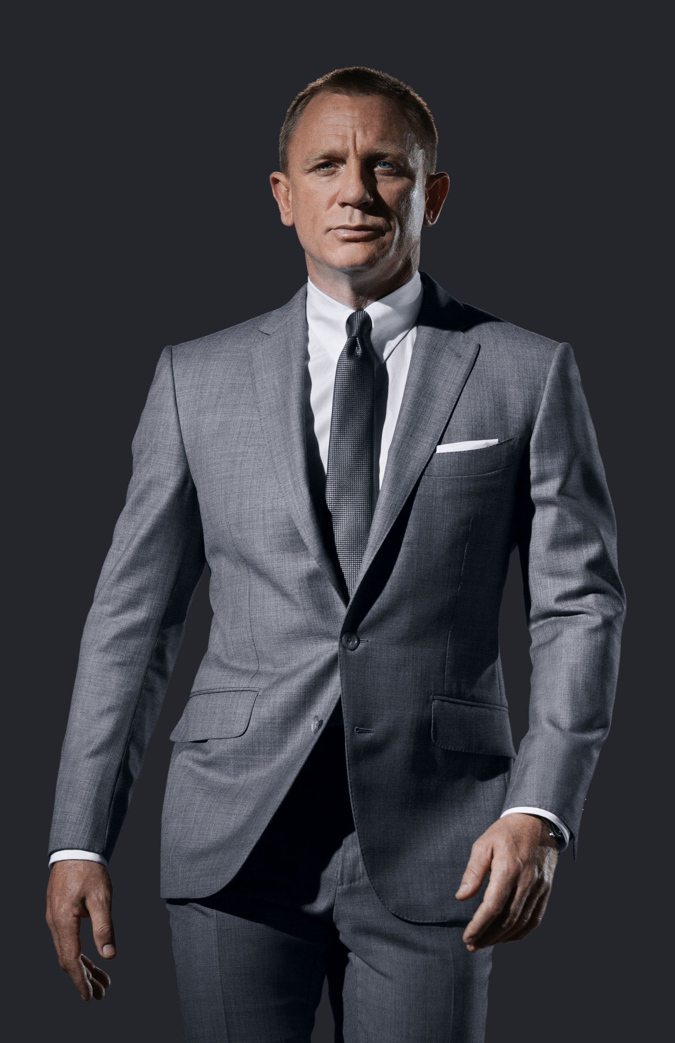 Daniel Craig In Grey Sharkskin Tom Ford O Connor Suit Promo