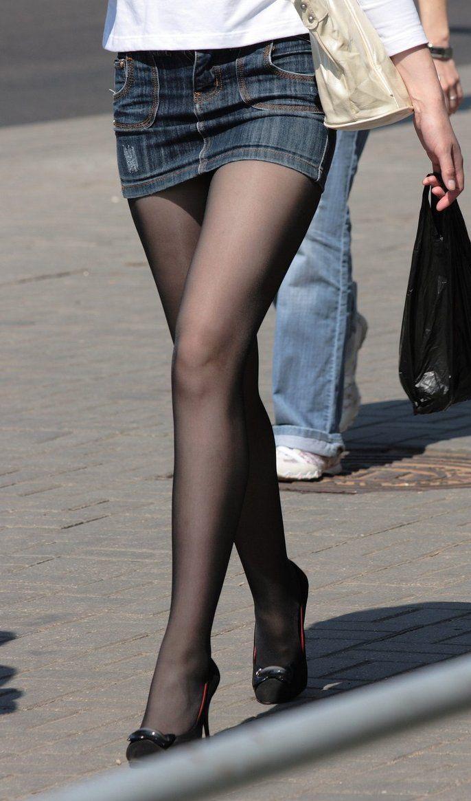 kurze Röcke und Nylons