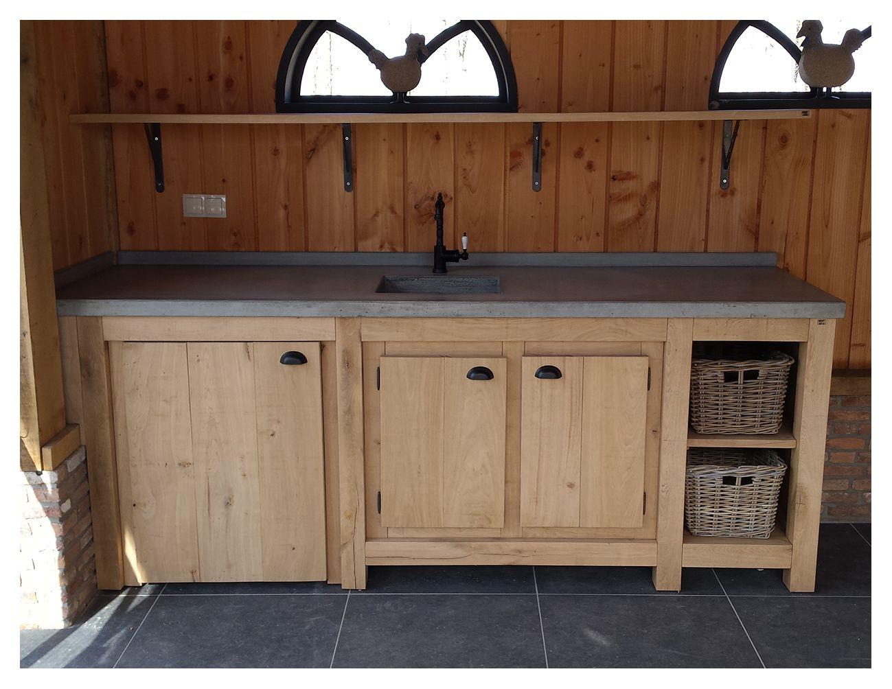 Houten Buiten Keuken : Houtsmederij houten buitenkeuken op maat boerenkeuken