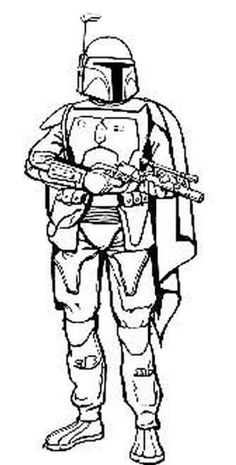 star wars coloring page more boba