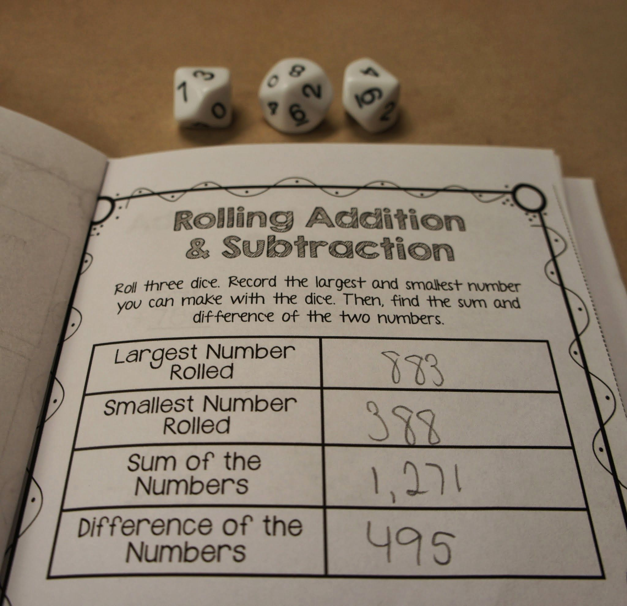 Math Station Monday 3 Nbt 2 Hands On Addition And