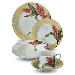 hawaiian+dinnerware | Tropical Hawaiian Dinnerware Dishes ...