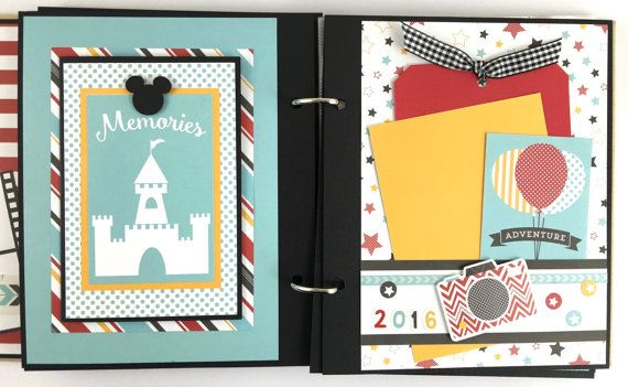 Disney Scrapbook Album Diy Kit Or Premade Vacation 24 Pages This