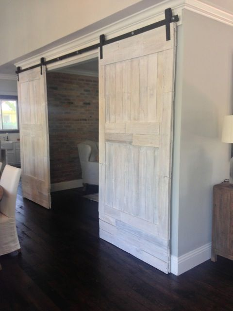 Whitewashed Barn Door Could Lighten