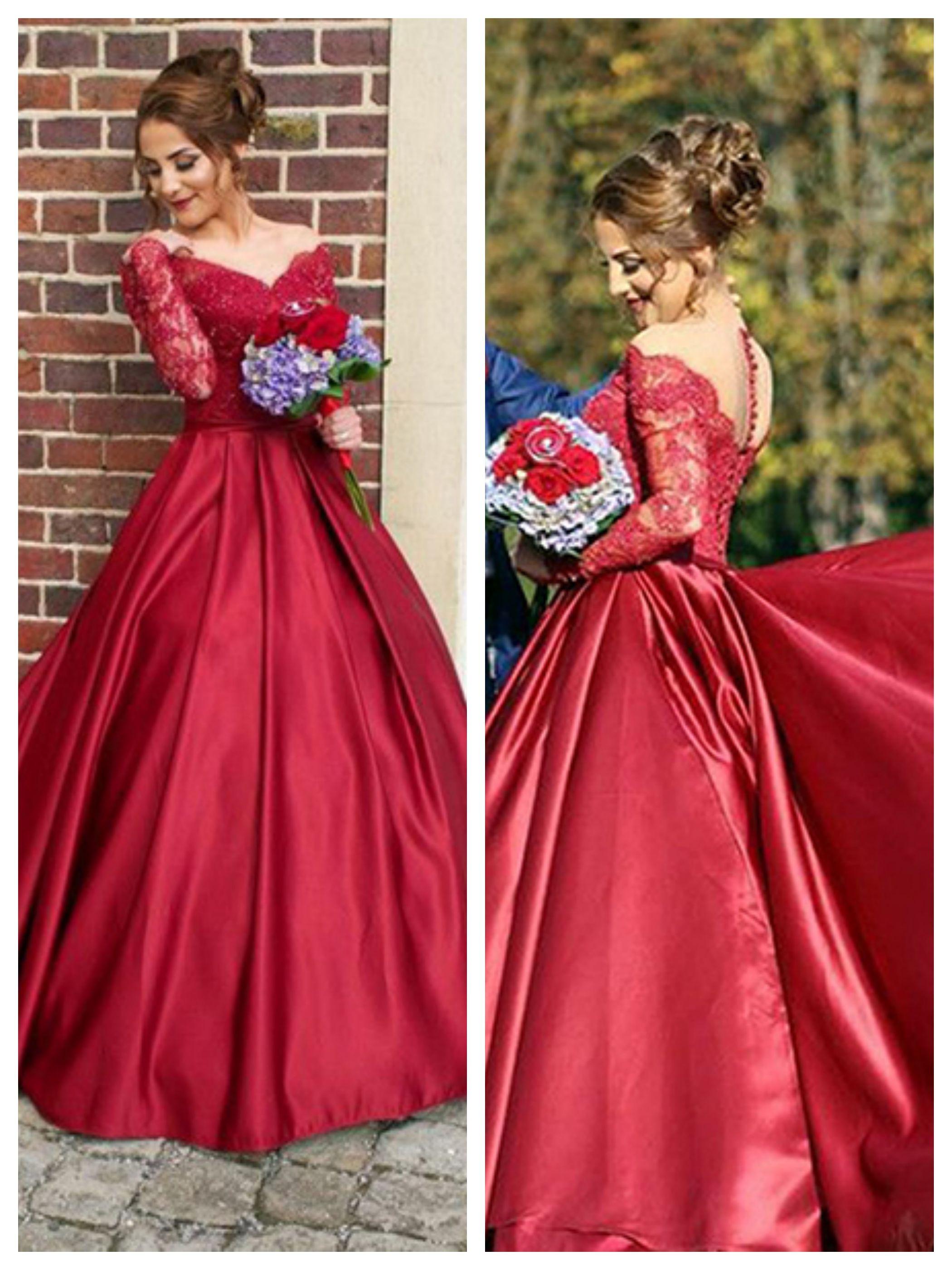 Vneck prom dressesburgundy evening dresseslace prom dresses prom