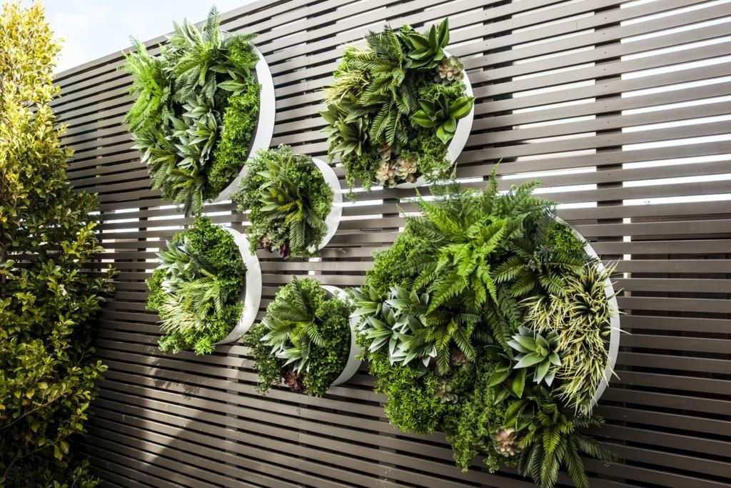Evergreen Disks Vertical Garden Diy Vertical Garden Design
