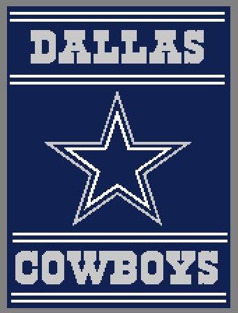 Dallas Cowboys 4 Crochet Graph Chart 214 By
