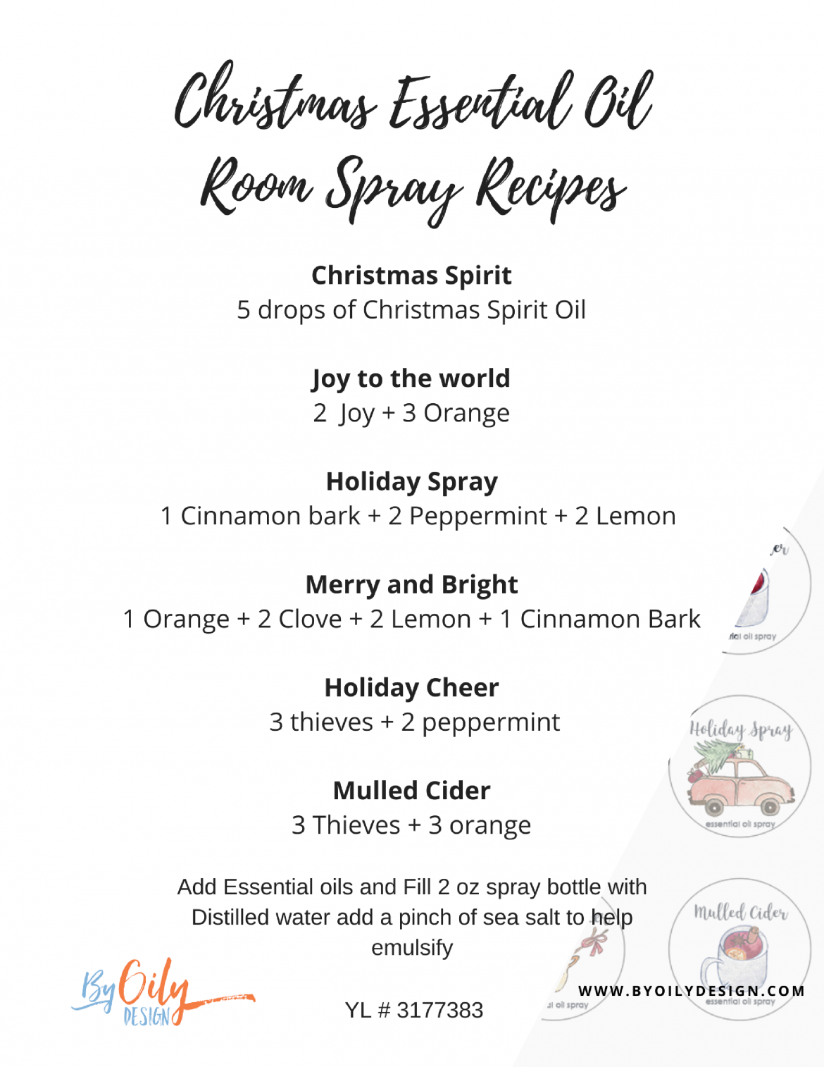 6 Simple DIY Christmas gift room sprays that will be a hit ...