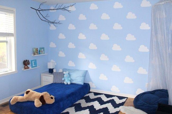 Schon Ideen · Weiße Wolken Auf Blauem Hintergrund Selber Machen. Blaue  HintergründeWände Streichen ...