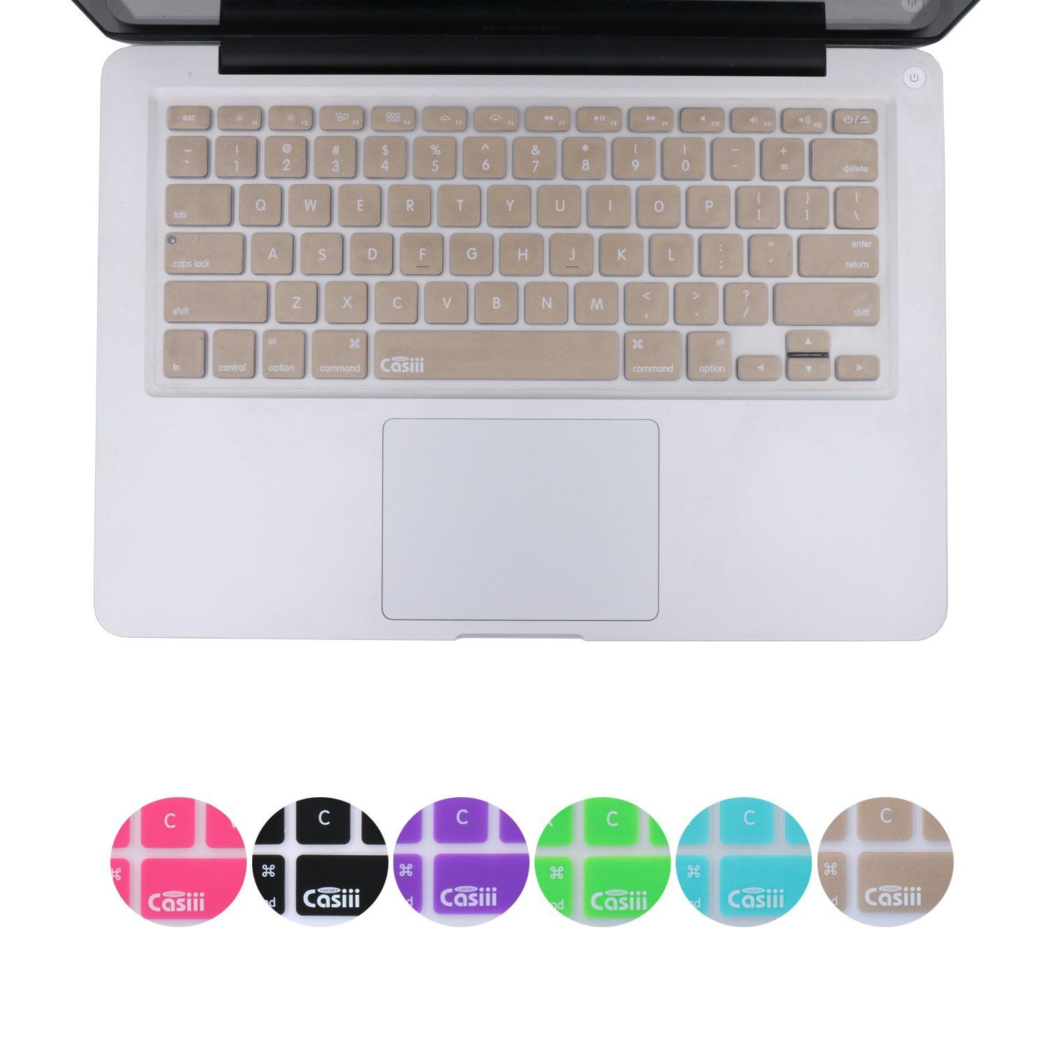 premium selection 001fe 5c767 Amazon.com: Casiii Ultrathin Silicone Keyboard Cover for Macbook ...