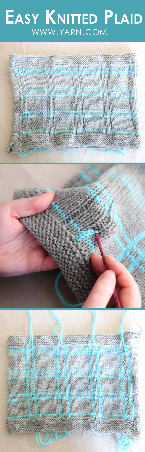 Easy Knitted Plaid Knitting Instructions Knitting
