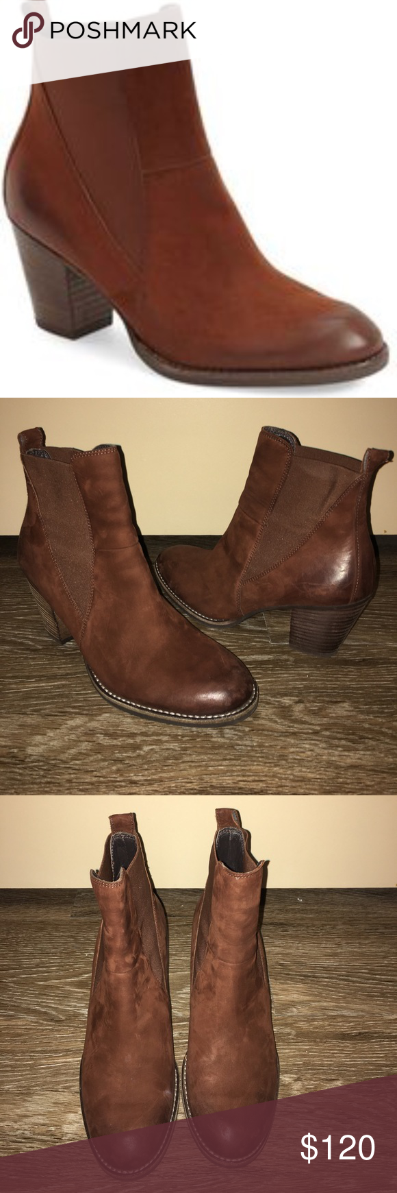 b731d1e5fe30 Paul Green Jules Block Heel Chelsea Boots 7 Gently worn size Paul Green 4  1 2 which is a Us 7 Paul Green Shoes Ankle Boots   Booties
