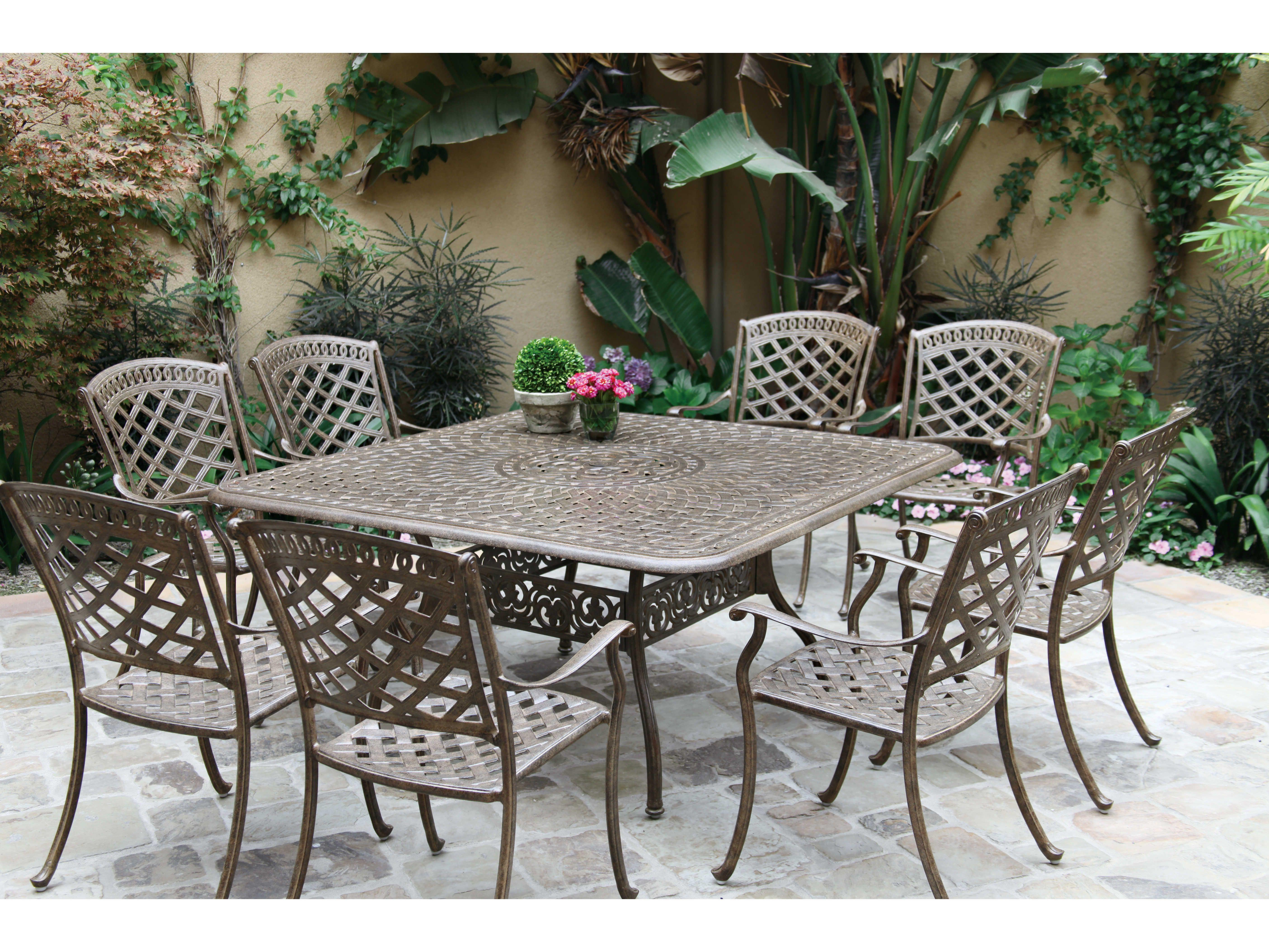 Swell Darlee Outdoor Living Standard Sedona Cast Aluminum Dining Home Interior And Landscaping Mentranervesignezvosmurscom