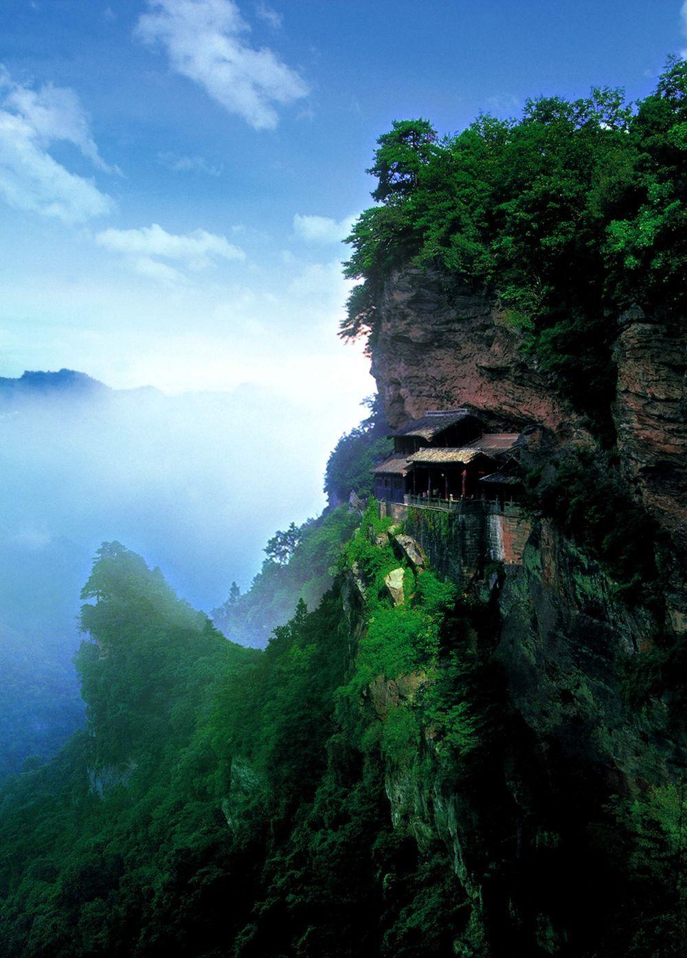the wudang mountains, shiyan, china.