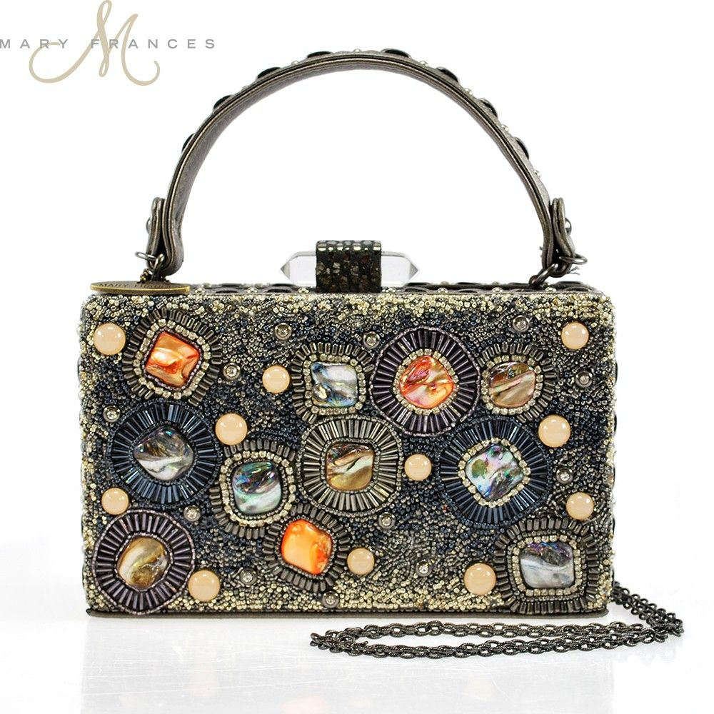 Circles And Stones One Of A Kind Handbag Beaded Embellished Designer By Mary Frances