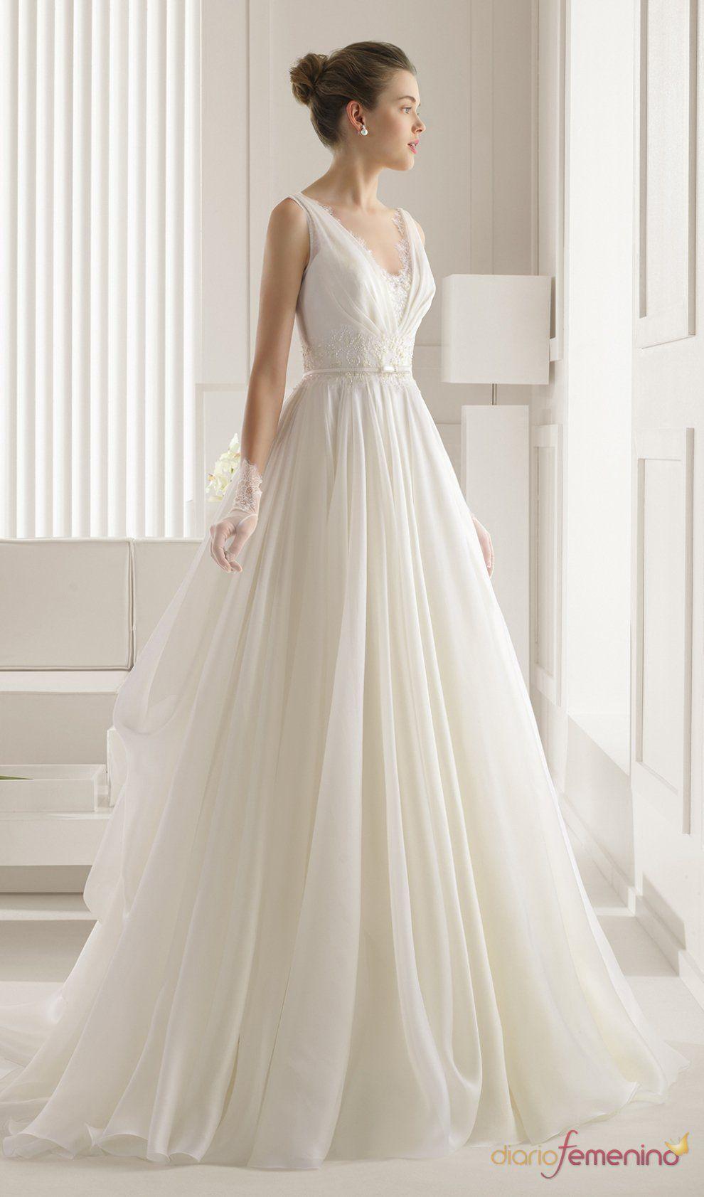 Vestido de novia perfecto rosa clara