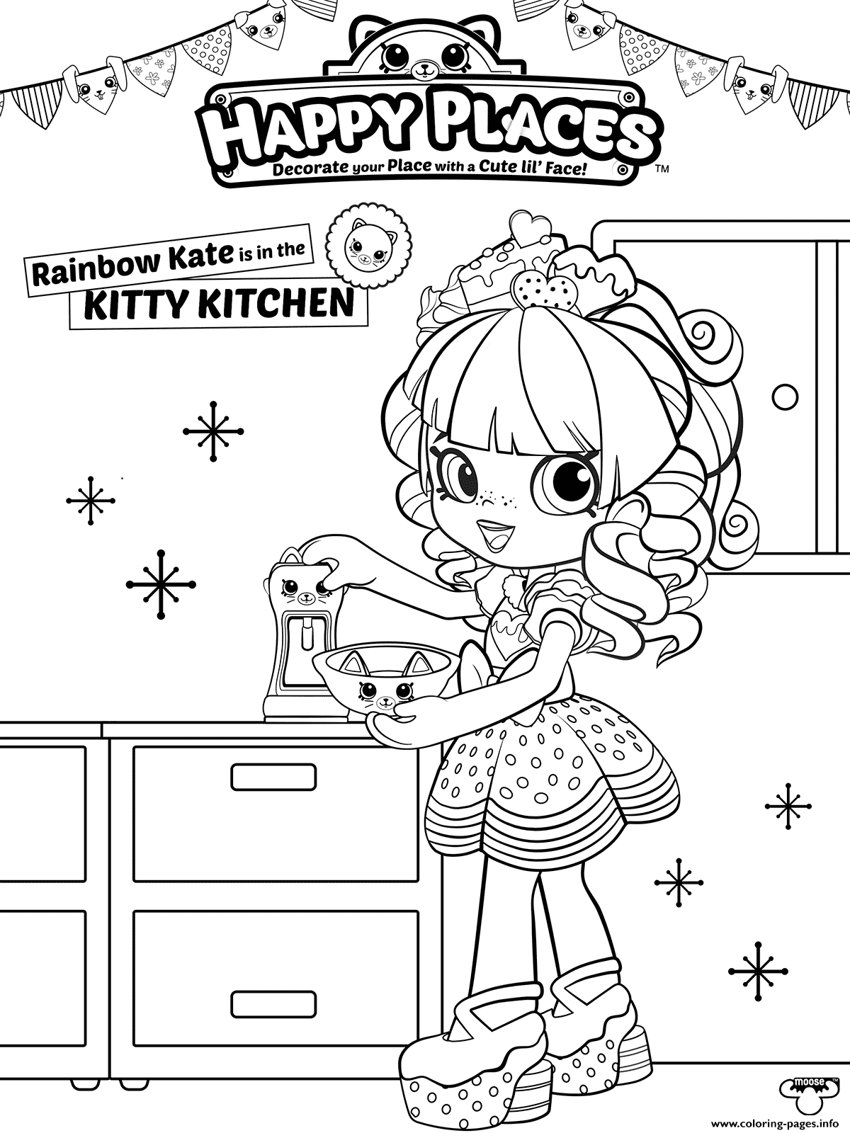 Shopkins Coloring Pages Happy Places