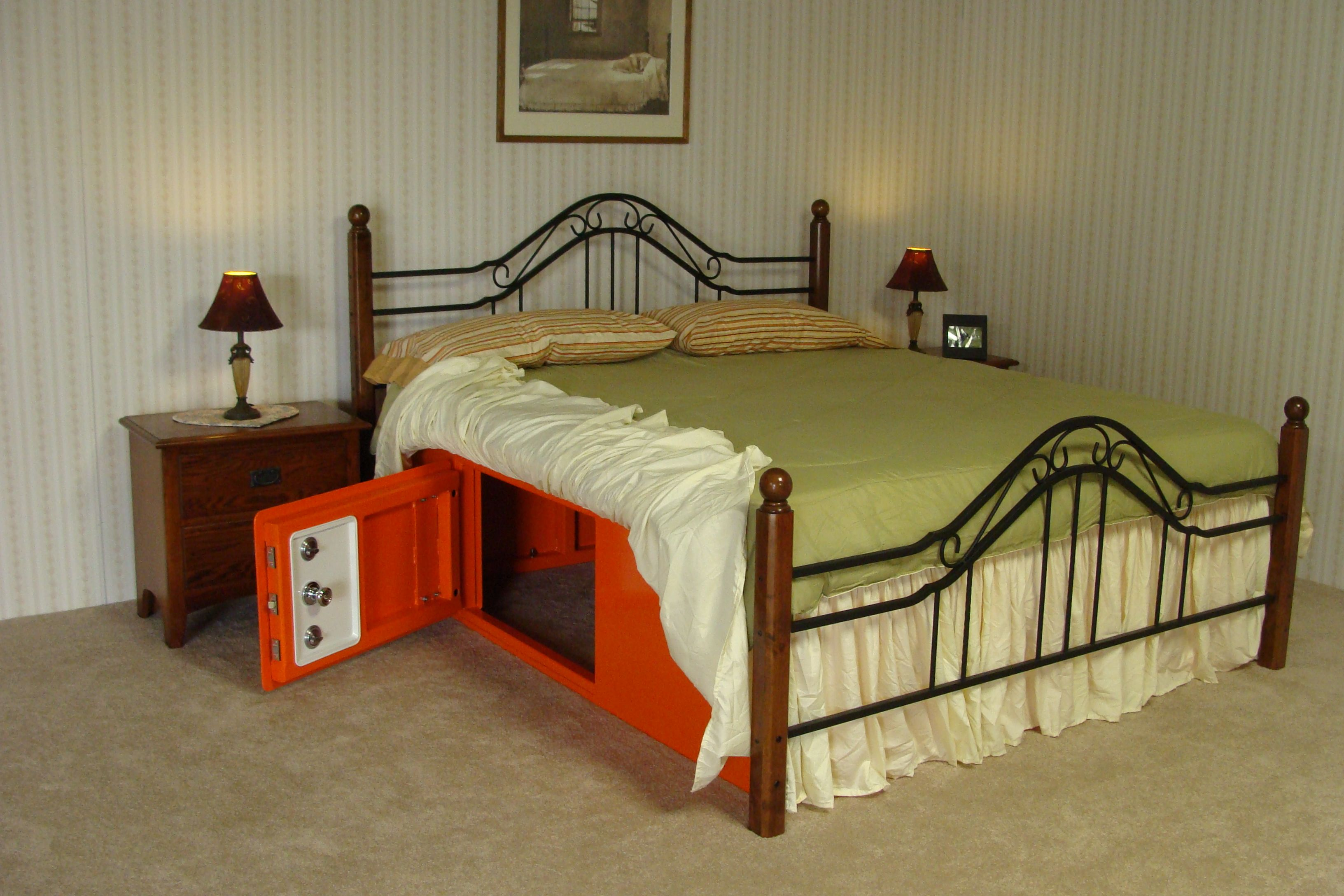Bed bunker tornado shelter this is an interesting idea for Safe rooms for homes