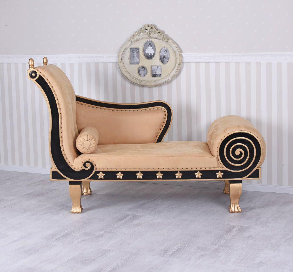 Geräumig Ottomane Recamiere Referenz Von Regency Antik Chaiselongue Alcantara Sofa Mahagoni Couch