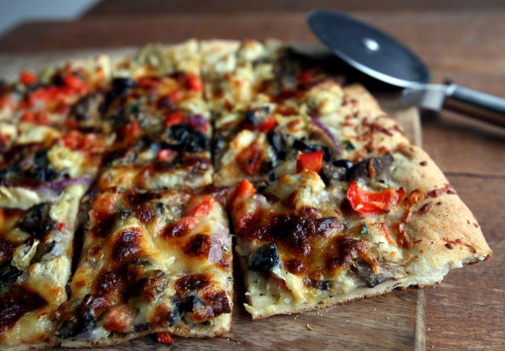 Artichoke and Red Pepper Pizza Bites..  Delicious and healthy recipe!