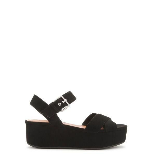 Sandalia plataforma tiras negras