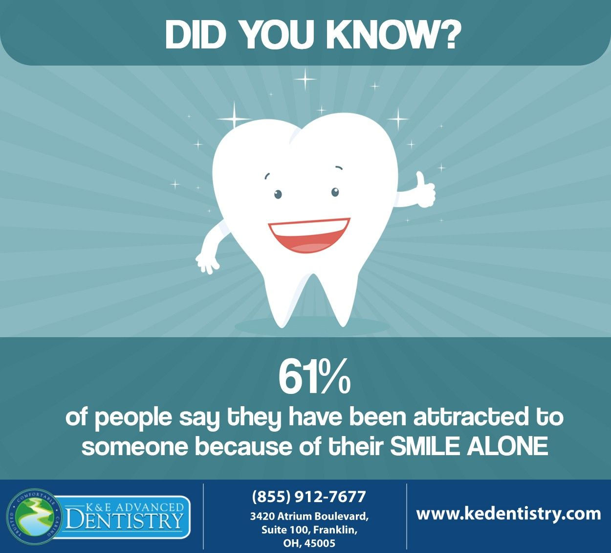 Is your smile that attractive? If not, give us a call at