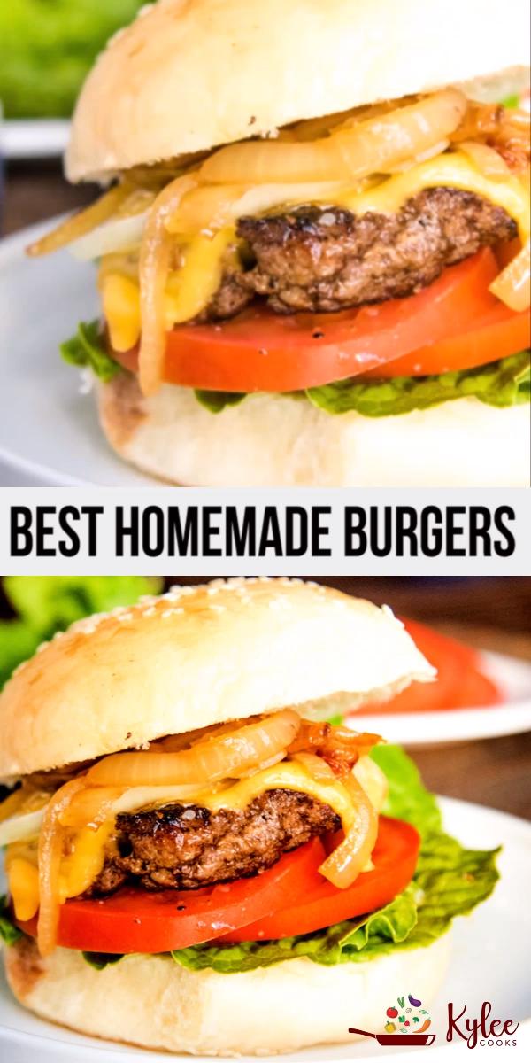 Best Homemade Beef Burgers 5 Ingredients Video Burger Recipes Beef Homemade Beef Burgers Homemade Burgers