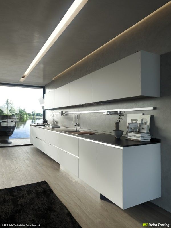 60 Clean Kitchen Layouts And Modern Lighting White Modern