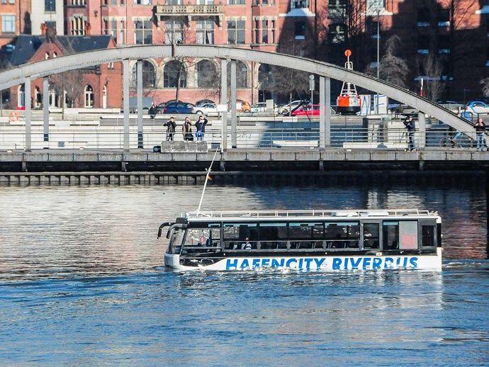 Hamburg Hafencity Riverbus Elbe Hafen City Hamburg Elbe