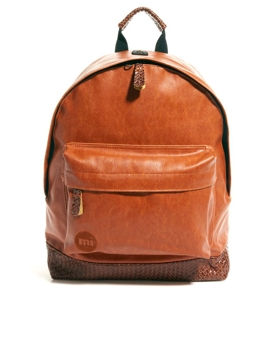 Mi Pac Tan Weave Backpack from ASOS -- $60