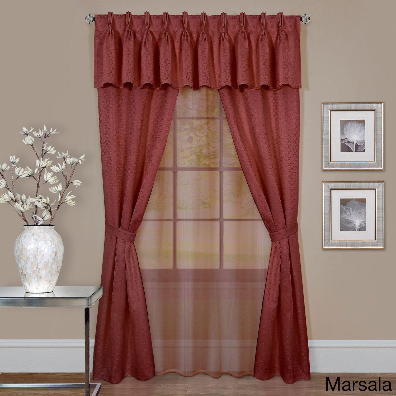 Achim claire piece window curtain set x charcoal grey