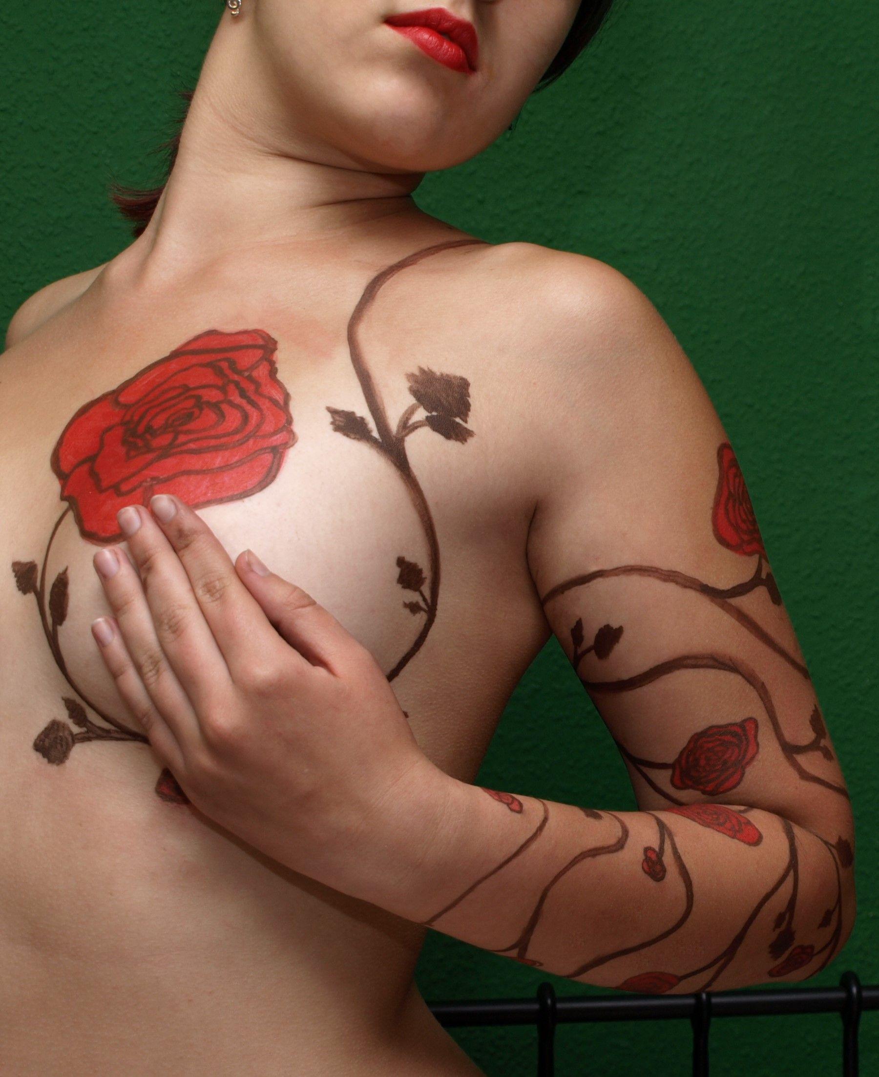 Girl tattoo ideas butterfly pretty rose vine wrap tattoo  suicide girl  pinterest  rose vines