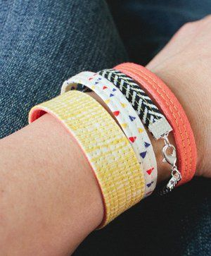 Quilted Fabric Bracelets