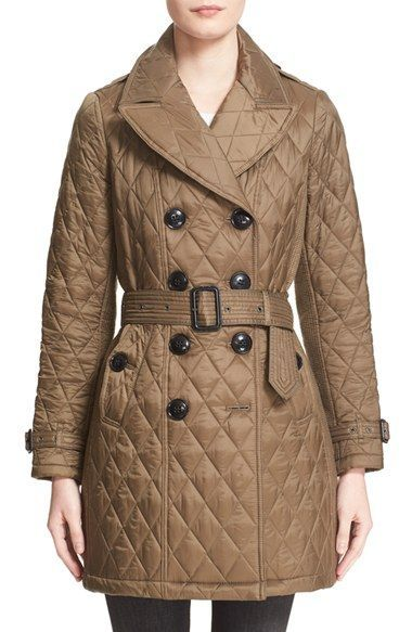 Burberry Brit Diamond Quilted Double Breasted Trench Coat Nordstrom Double Breasted Trench Double Breasted Trench Coat Trench Coat