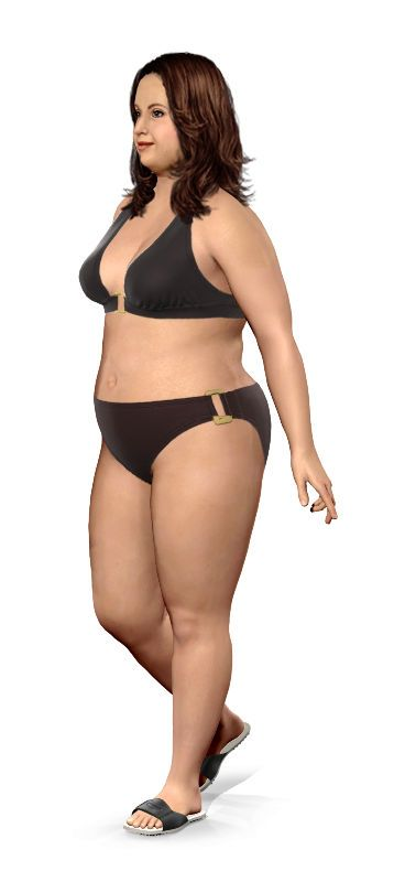 This is a cool website. Enter your current weight, goal weight, and other physical features and it creates a model of what you could look like at your goal weight. Motivating!!