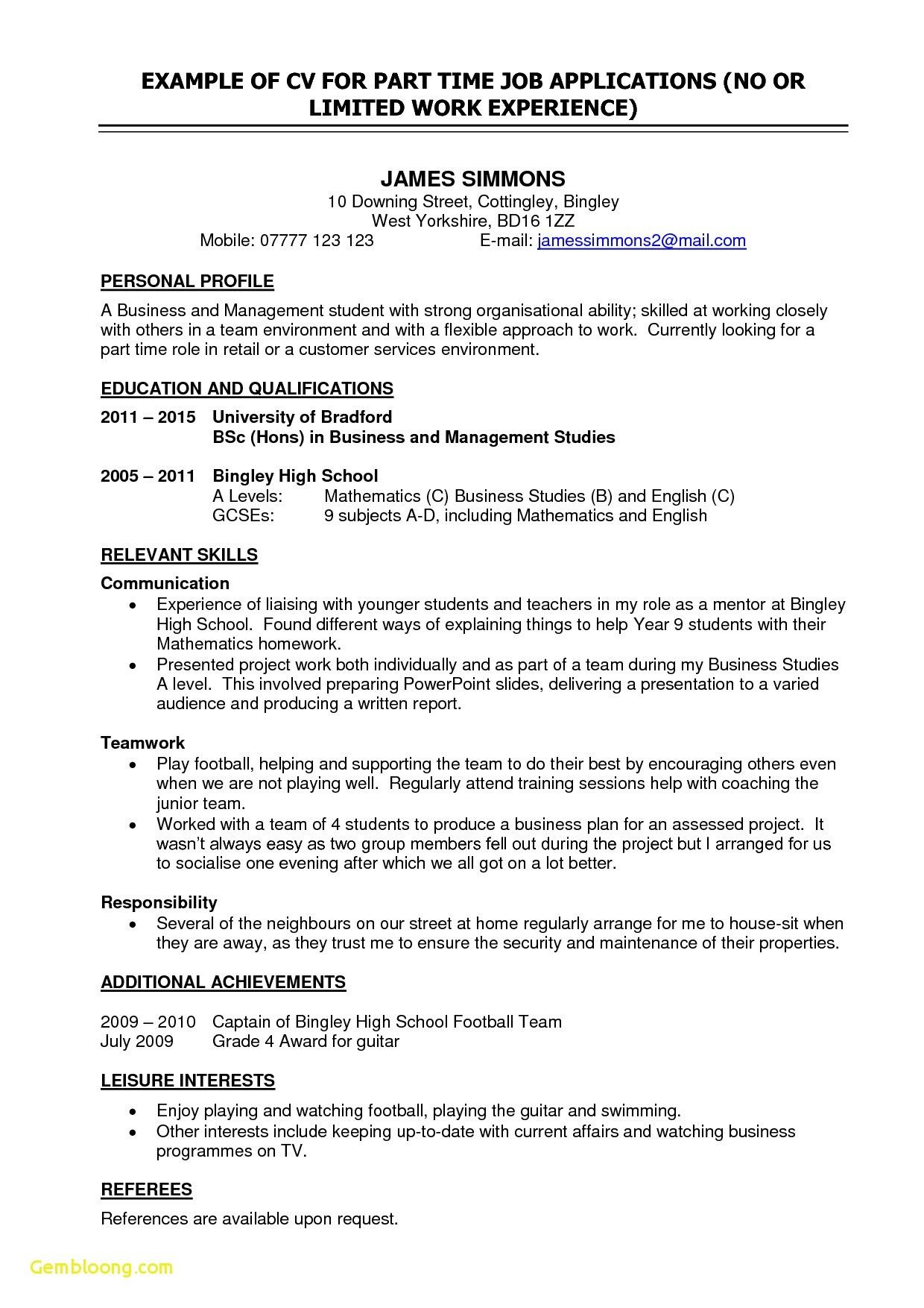 Good Resume Examples Australia