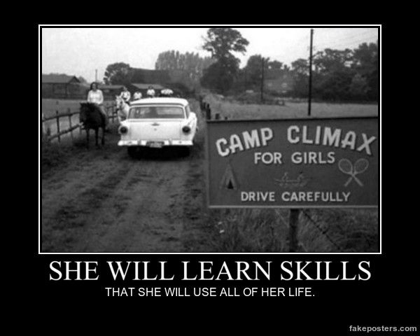 She Will Learn Skills - Demotivational Poster