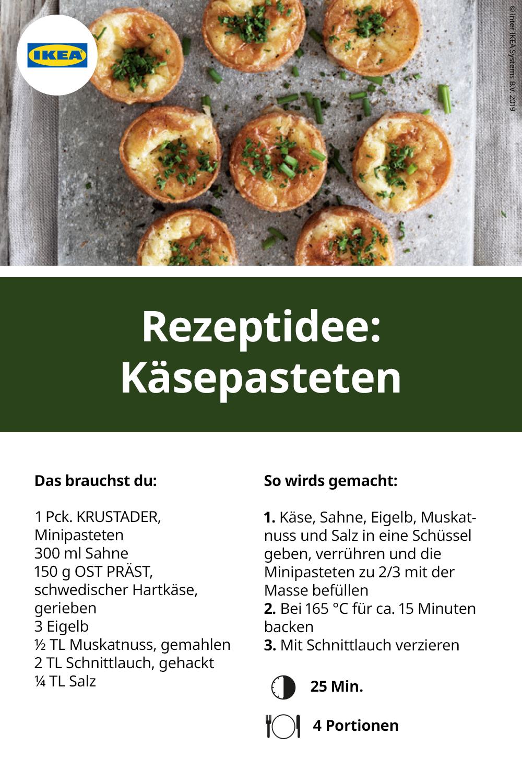 Krustader Minipasteten Ikea Deutschland Rezepte Pastete Lebensmittel Essen