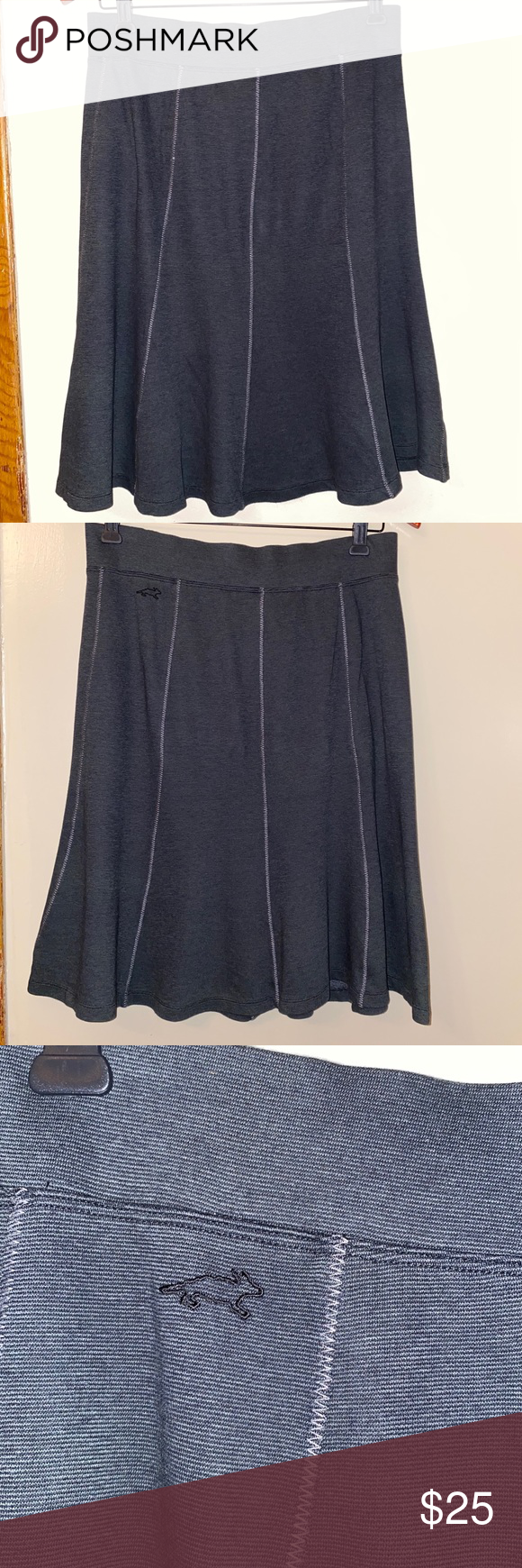 """Horny Toad Skirt Approximate measurements  - Waist: 14"""" - Length: 22"""" -Condition: excellent, pre-owned. Smoke and pet free home.   -0380 Horny Toad Skirts"""