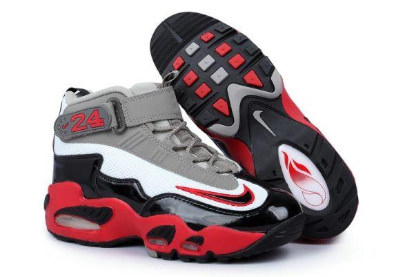 2013 Nike Air Max Ken Griffey jr.1 Sneakers Mens shoes Grey White Black Red f12cfc3bb