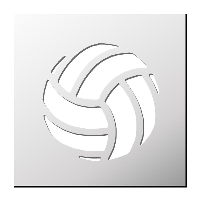 Coloriage Ballon De Volley.Pochoir Ballon De Volley Ball Pochoir Volley Ball Et